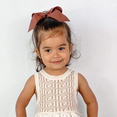 Your Little Miss Haarspeldje met strik large met elastiek fudge