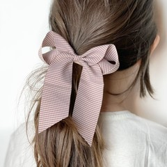 Your Little Miss Hair bow with elastic carmandy check