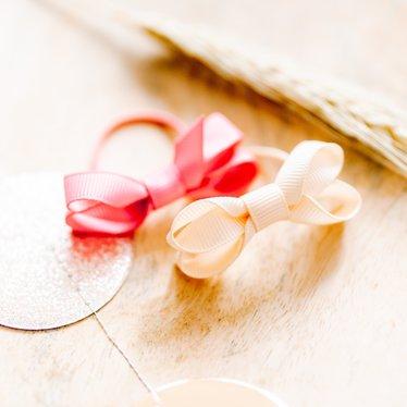 Your Little Miss Setje van 2 kleine elastiekjes met strik fantasy rose