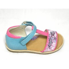 Manuela de Juan MJ sandaal blauw/roze UV