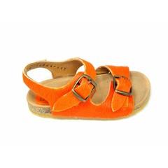 Bisgaard Bisgaard sandaal oranje ponyhaar UV