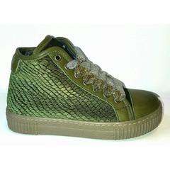 Julz Sneaker green velvet LAATSTE STUK! 33