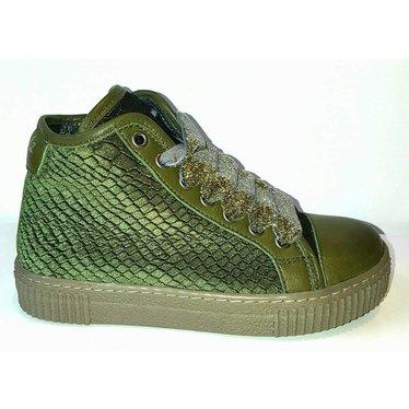 Julz Sneaker green velvet 28,31,32,33,34,35