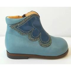 Ocra Laarsje blauw met vlinder LAATSTE STUK! 19