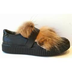 Eli Sneaker zwart/harig 38.37.36