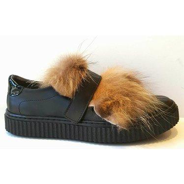 Eli Sneaker zwart/harig 35,36,37,38,39,40