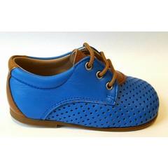Eli Veterschoen blauw/cognacdetail UV