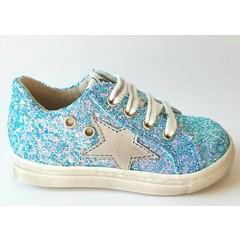 EB Sneaker blauwe glitter UV