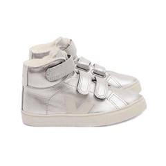 Veja Sneaker velcro zilver/ wol gevoerd 22.23