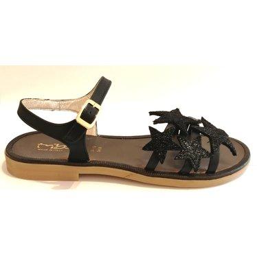 Triboo Sandaal zwart met sterren 32.33.34.35.36.37.38