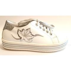 Triboo Sneaker wit/zilver 29.30.31.32.33