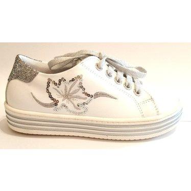 Triboo Sneaker wit/zilver 28.29.30.31.32.33.34