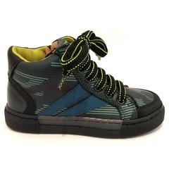 Romagnoli Bottine zwart/ kaki 24.25.27.28