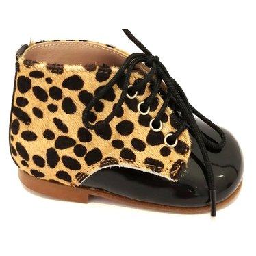 Eli Eerste stapper zwarte lak/ leopard 19.20.21.22