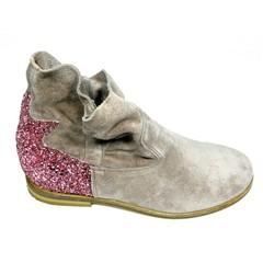Manuela de Juan Laarsje daim, roze glitter 34.35