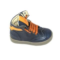 Jeune fille en fleur Sneaker, blauw met oranje accenten 20