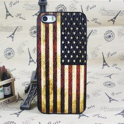 Amerikaanse vlag / USA - retro hoes iPhone 5 / 5s