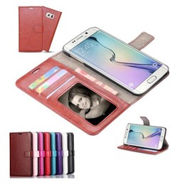 Lederen wallet hoes Samsung Galaxy S6 edge Plus