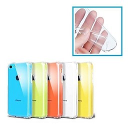 Transparant flexibel siliconen plastic hoesje iPhone 5c