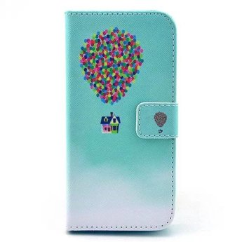 Luchtballon afbeelding - wallet hoes iPhone 5 / 5s