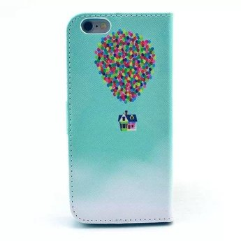 Luchtballon afbeelding - wallet hoes iPhone 6 Plus (s)