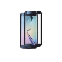 Tempered Glass Samsung Galaxy S6 edge (met gebogen randen) - Zwart