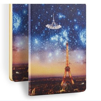 Eiffel tower at night - PU lederen hoes voor de iPad air 1