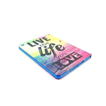 Live the life you love tekst - PU lederen hoes iPad Pro 2 - 9.7 inch