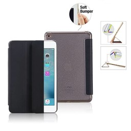 Premium Apple iPad Mini 4 - Smart Cover Hoes Case - met Flexibele Achterkant – Zwart / Black