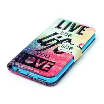 Live the life you love tekst - wallet hoes iPhone 7 Plus (s)