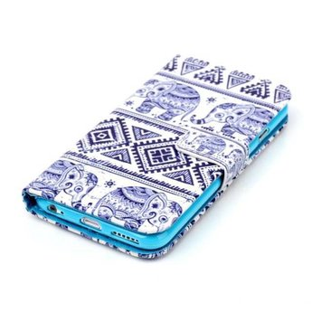 Tribal Olifant afbeelding - wallet hoes iPhone 7 Plus (s)