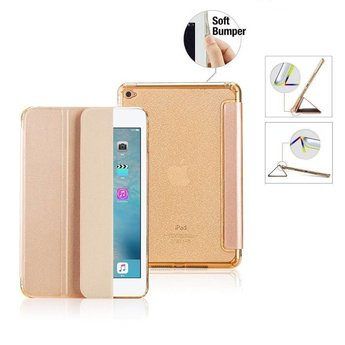 Premium Apple iPad 2017/2018 9.7 inch - Smart Cover Hoes Case - met Flexibele Achterkant – Goud / Gold