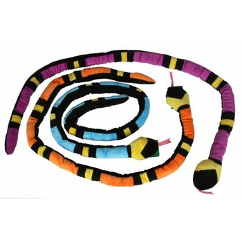 Pluche Cobra met Piep Mix Kleuren 155cm