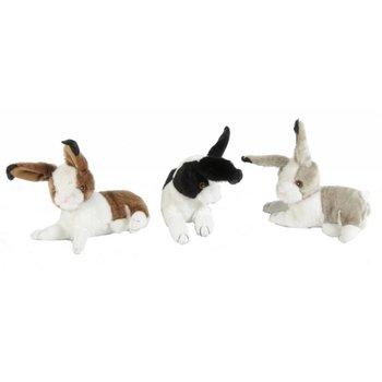 Pluche konijn met piep mix kleuren 22cm