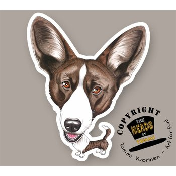 Heads Welsh Corgi (Cardigan)