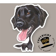 Heads Flat-coated Retriever