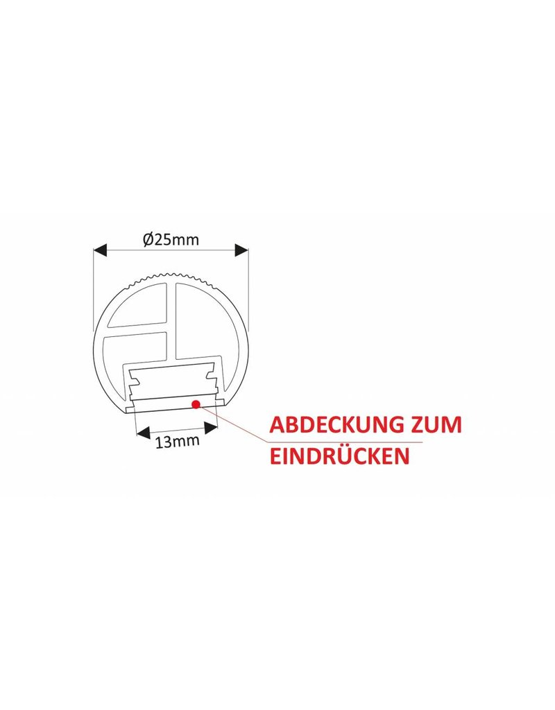 LEDFactory Aluprofil für Schränke - Ersatz für Kleiderstange
