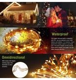 LEDFactory 10M LED Kupferdraht Lichterkette, 100 LEDs, Wasserdicht, Warmweiß, für Außen / Innen