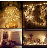 10M LED Kupferdraht Lichterkette, 100 LEDs, Wasserdicht, Warmweiß, für Außen / Innen