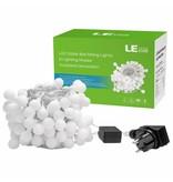 LEDFactory 100er LED Kugel Lichterkette, 10M 8 Modi mit Memory-Funktion, Innen/ Außen, Warmweiß