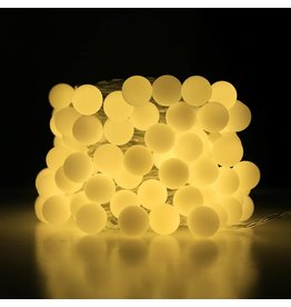 100er LED Kugel Lichterkette, 10M 8 Modi mit Memory-Funktion, Innen/ Außen, Warmweiß