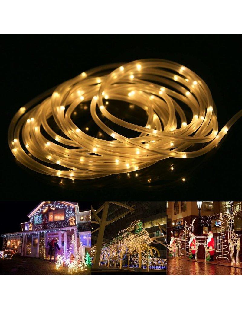 LEDFactory LED Lichterschlauch, 10M 120er LEDs, Warmweiß, 8 Modi mit Memory-Funktion für Innen/ Außen
