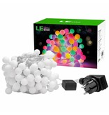 LEDFactory 100er LED Kugel Lichterkette, 10M Mehrfarbig, 8 Modi mit Memory-Funktion, Innen/ Außen, RGB