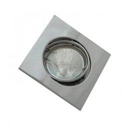 LEDFactory Einbaurahmen für LED MR16/GU10 Quadratisch Schwenkbar Chrom
