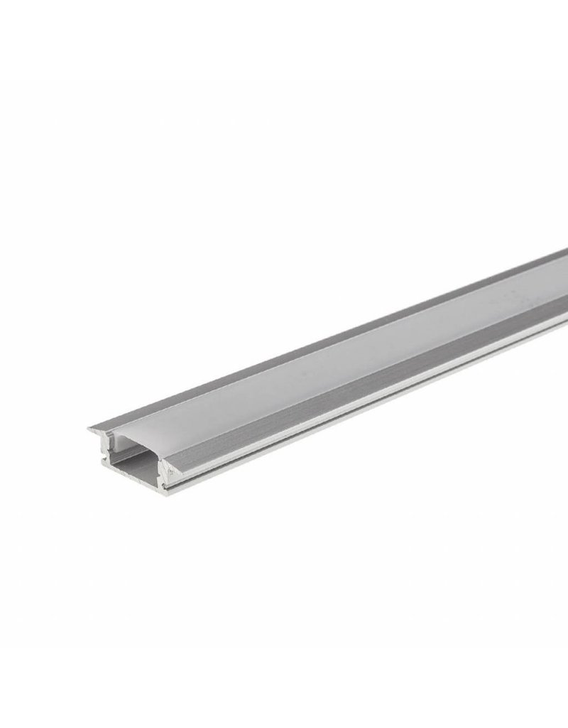 LEDFactory LED Aluminium Profil Einbau eloxiert 1m SET