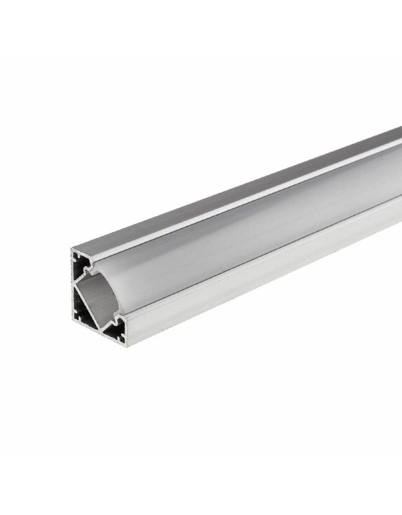 LEDFactory LED Aluminium Profil 45° eloxiert 1m SET