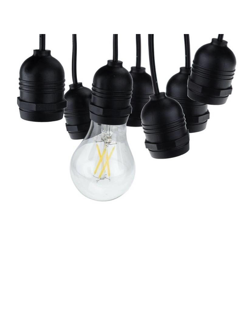 LEDFactory Lichterkette mit E27 Fassung 15 Stk. 14 Meter IP65