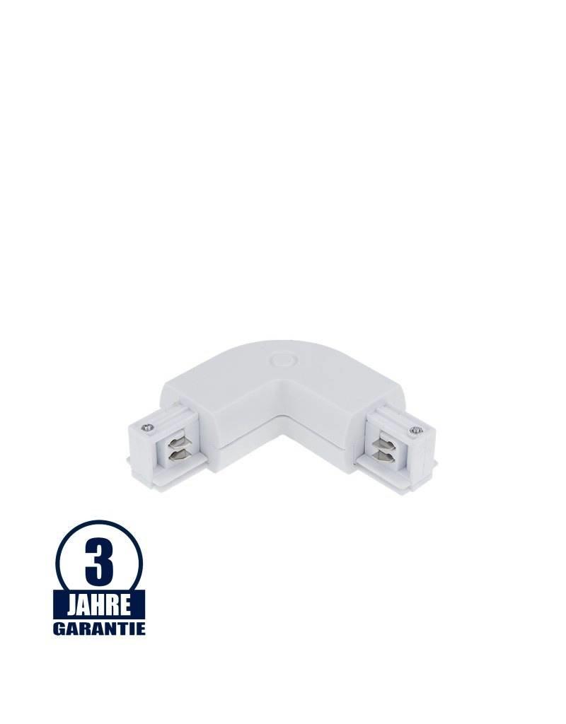 L-Verbinder für 3Ph. Stromschiene Professional Weiß