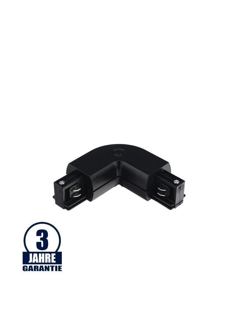 LEDFactory L-Verbinder für 3Ph. Stromschiene Professional Schwarz