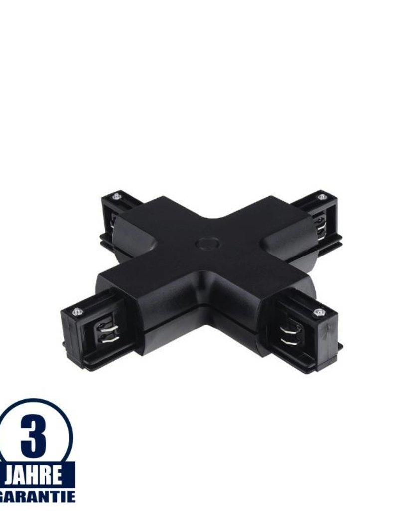 Kreuz-Verbinder für 3Ph. Stromschiene Professional Schwarz